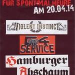 20.04.14 Hamburg, Druckerei im Gängeviertel + Hamburger Abschaum + Violent Instinct