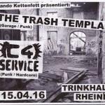 Flyer Rheine Trinkhalle 15-04-16 - C4Service - Trash Templars