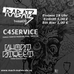 C4Service - Rabatz - Ghost Street - HoT Waf - Flyer by HolBeu