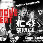C4Service + The Movement - Flyer