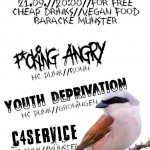 Flyer Punkbar C4Service Youth Deprivation F-cking Angry 2019-9-21